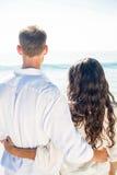 Happy couple on the beach Stock Image