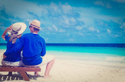 Happy couple on beach vacation Royalty Free Stock Photo
