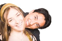 Happy couple with big smile! Royalty Free Stock Photo