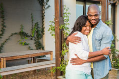 Happy couple after buying new house Royalty Free Stock Image