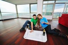 Happy couple celebrate Royalty Free Stock Photo