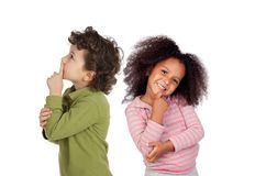 Happy couple of children Royalty Free Stock Photo