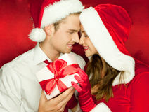 Happy couple at christmas Royalty Free Stock Photo