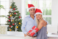 Happy couple at christmas Royalty Free Stock Photos