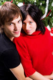 Happy couple at Christmas Royalty Free Stock Image