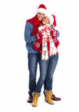 Happy couple with christmas gifts. Royalty Free Stock Photography
