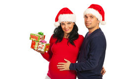 Happy couple with Christmas presents Stock Photo