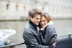 Happy couple in the city Royalty Free Stock Photography