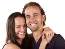Happy Couple Close Up Royalty Free Stock Photo