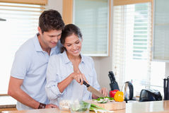 Happy couple cooking Stock Photography