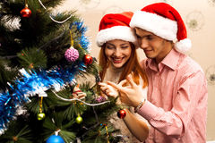 Happy couple,cristmas Royalty Free Stock Photography