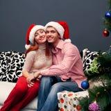 Happy couple,cristmas Royalty Free Stock Image