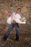 Happy couple dancing Stock Image