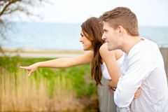 Happy Couple Dating Outdoors Stock Image