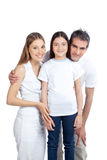 Happy Couple with Daughter Stock Photography
