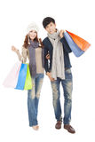 Happy couple doing shopping together Royalty Free Stock Photography