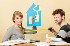 Free Happy Couple Dreaming About House. Stock Photography - 72573292