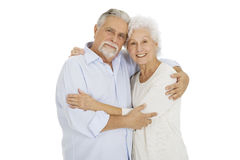 Happy couple of elderly. Portrait of a happy couple of elderly Royalty Free Stock Image