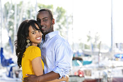 Happy couple embracing Royalty Free Stock Photography