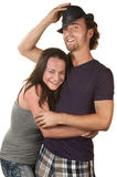 Happy Couple Embracing Stock Image