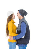 Happy couple embracing and looking each other Royalty Free Stock Photo