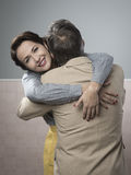 Happy couple embracing Stock Photography