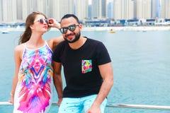 Happy couple enjoy vacation Stock Photography