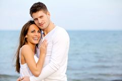 Happy Couple Enjoying the Beach Royalty Free Stock Photos