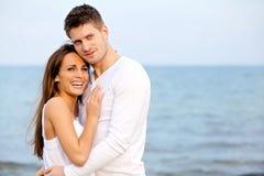 Happy Couple Enjoying the Beach Royalty Free Stock Photos