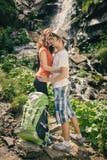 Happy couple enjoying beautiful nature Stock Images