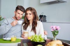 Happy Couple Enjoying Breakfast Royalty Free Stock Image