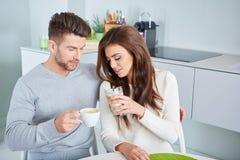 Happy Couple Enjoying Breakfast Stock Photography