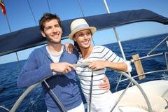 Happy couple enjoying the cruise Royalty Free Stock Image