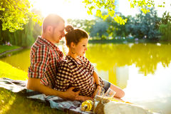 Happy couple enjoying each other Royalty Free Stock Photography