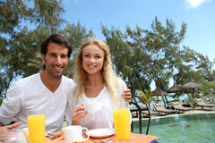 Happy couple enjoying honeymoon Royalty Free Stock Photo
