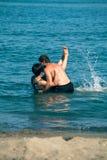 Happy couple enjoying sea Royalty Free Stock Photography