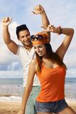 Happy couple enjoying summer holiday Royalty Free Stock Photo