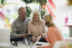 Making Arrangements With Events Organiser Stock Images