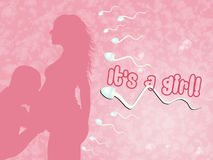 Happy couple expecting a baby. Illustration of couple expecting a baby Royalty Free Stock Images