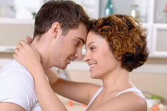 Happy couple expressing love Royalty Free Stock Photography