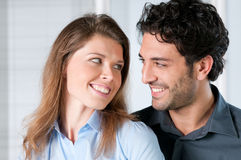 Happy couple expression Royalty Free Stock Images