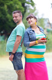 Happy couple. Happy family couple in anticipation of the birth of a baby Stock Images