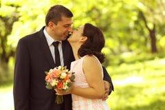 Happy couple feeling great Royalty Free Stock Photo