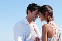 Happy couple flirting Stock Photography
