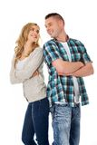 Happy couple folded arms Stock Photo
