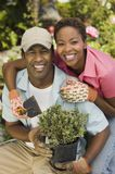 Happy Couple Gardening Together Royalty Free Stock Photo