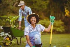 Happy couple gardening Royalty Free Stock Photos