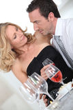 Couple glass of wine Royalty Free Stock Photography
