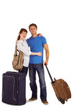 Happy couple going on holiday Royalty Free Stock Photo