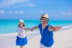 Happy couple have fun on Caribbean beach vacation Royalty Free Stock Photo